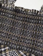 Ganni - Seersucker Check - midi kjoler - kalamata - 2