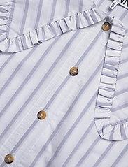 Ganni - Feathery Cotton - långärmade blusar - heather - 2