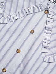 Ganni - Feathery Cotton - langærmede bluser - heather - 2