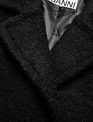 Ganni - Boucle Wool - uldfrakker - black - 2