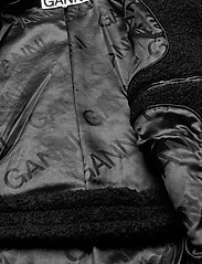 Ganni - Boucle Wool - uldfrakker - black - 5