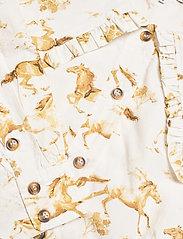 Ganni - Printed Cotton Poplin - langærmede bluser - cognac - 2