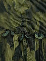 Ganni - Pleated Georgette - langærmede bluser - olive drab - 3