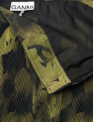 Ganni - Pleated Georgette - midi skirts - olive drab - 3