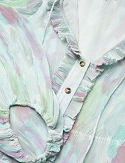 Ganni - Pleated Georgette - hverdagskjoler - bright white - 2