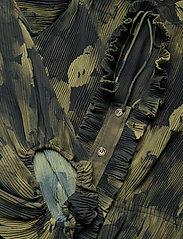 Ganni - Pleated Georgette - hverdagskjoler - olive drab - 2