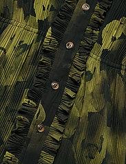 Ganni - Pleated Georgette - hverdagskjoler - olive drab - 3