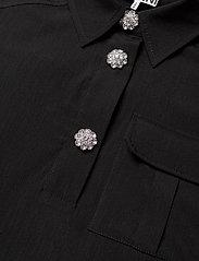 Ganni - Melange Suiting - hverdagskjoler - black - 3