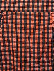Ganni - Seersucker check - short skirts - flame - 2