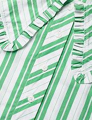 Ganni - Stripe Cotton - Ærmeløse bluser - kelly green - 4