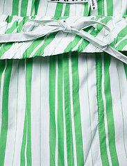 Ganni - Stripe Cotton - casual bukser - kelly green - 3