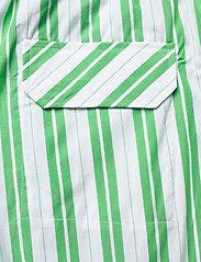 Ganni - Stripe Cotton - casual bukser - kelly green - 4