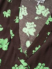 Ganni - Printed Crepe - everyday dresses - mole - 2