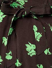 Ganni - Printed Crepe - everyday dresses - mole - 3