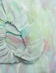 Ganni - Pleated Georgette - langærmede bluser - bright white - 3