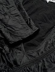 Ganni - Crinkled Satin - summer dresses - black - 2