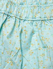 Ganni - Printed Cotton Poplin - casual shorts - corydalis blue - 2