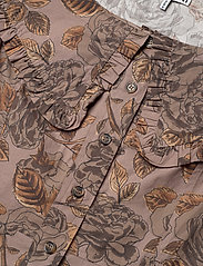 Ganni - Printed Cotton Poplin - midi kjoler - fossil - 2