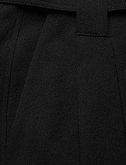 Ganni - Heavy Crepe - straight leg trousers - black - 2