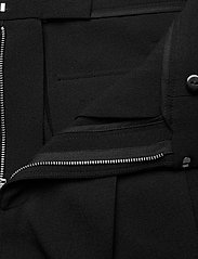 Ganni - Heavy Crepe - straight leg trousers - black - 4