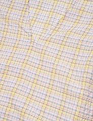 Ganni - Seersucker check - short-sleeved blouses - multicolour - 2