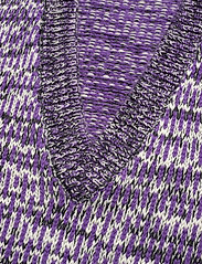 Ganni - Hand Knit Wool - veste - deep lavender - 2