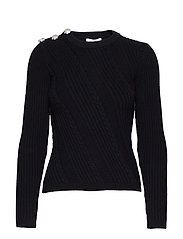 Cotton Knit Pullover - BLACK