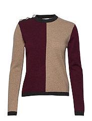 Cashmere Knit - BLOCK COLOUR