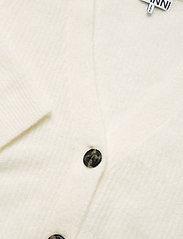 Ganni - Soft Wool Knit - cardigans - egret - 2