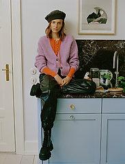 Ganni - Soft Wool Knit - cardigans - pastel lilac - 0