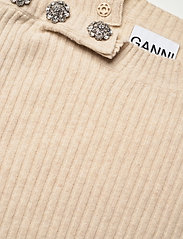 Ganni - Wool Mix Knit - strikveste - brazilian sand - 2