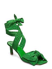 Heeled Bow Sandals - ISLAND GREEN
