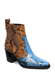 Western Ankle Boots - BRUNNERA BLUE