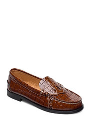 Moccasin Belly Croc - TOFFEE