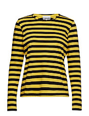 Striped Cotton Jersey - MAIZE