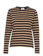 Striped Cotton Jersey - TIGER'S EYE