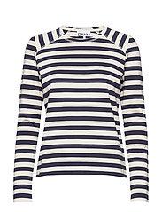 Striped Cotton Jersey - NATURE/DRESS BLUES