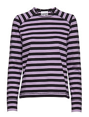 Striped Cotton Jersey - VIOLET TULIP