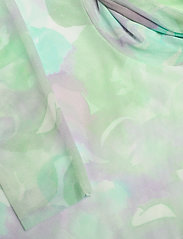 Ganni - Printed Mesh - langærmede bluser - bright white - 2