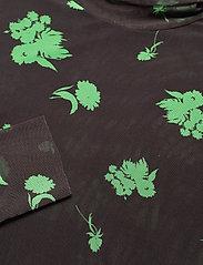 Ganni - Printed Mesh - langærmede bluser - mole - 2