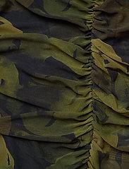 Ganni - Printed Mesh - stramme kjoler - olive drab - 3