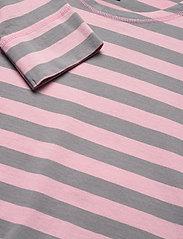 Ganni - Striped Cotton Jersey - langærmede toppe - sharkskin - 2