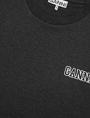 Ganni - Thin Software Jersey - t-shirt & tops - black - 2