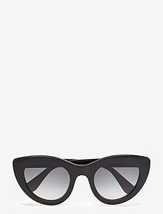 Triangle Sunglasses - cat-eye - black