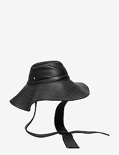 Lamb Leather Accessories - hats - black