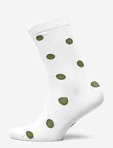 Polyamide Lurex Blend Dots Socks - VAPOR BLUE