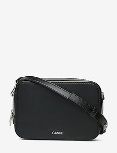 Textured Leather Bag - shoulder bags - black