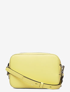 Textured Leather Bag - axelremsväskor - lemon