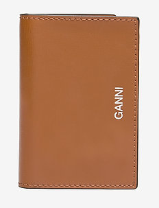 Textured Leather Cardkeeper - COGNAC