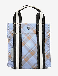 Check Print Bags Mini Tote - fashion shoppers - tannin